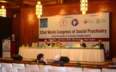 World Congress of Social Psychiatry (30th Nov – 4th Dec, 2016)